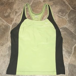 Nike green/gray L performance exercise tank top